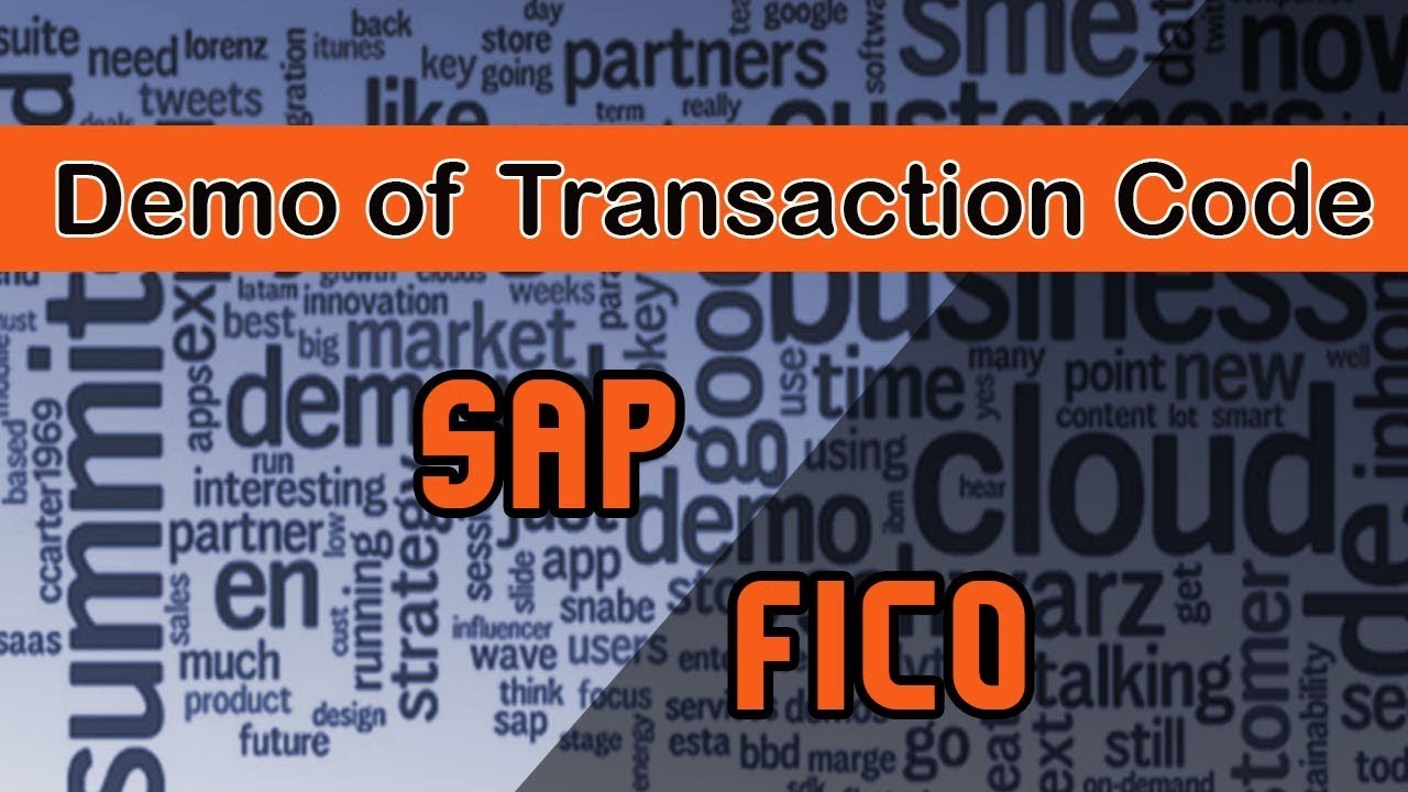 SAP FICO | Demo of the Transaction Code in SAP | Introduction of SAP Screen