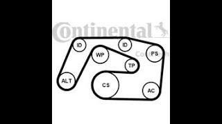 Changer une courroie d'alternateur Mercedes C220  CDI