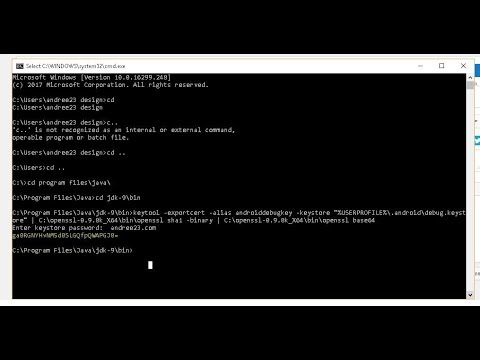 How to Generating a Development Key Hash Facebook