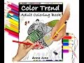 """FASHION Adult Coloring Book """"Color Trend"""""""