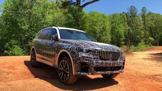 BMW X7 Prototype before the off-road session