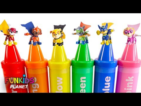Thumbnail: Learning Colors Videos for Kids: PAW Patrol Skye & Chase Magical Crayons & Super Pups