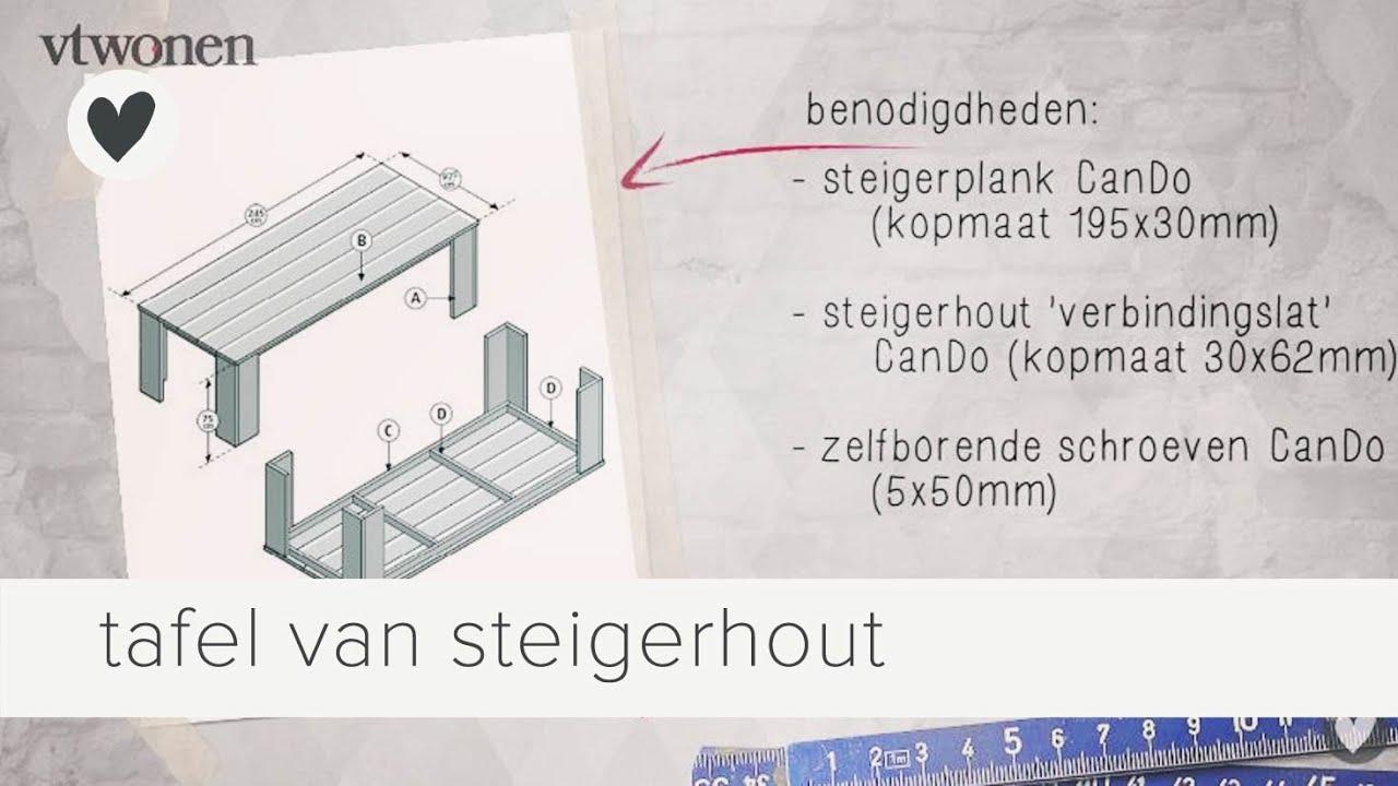Zelf Een Keuken Maken Van Steigerhout : tafel van steigerhout maken vtwonen doe-het-zelf – YouTube