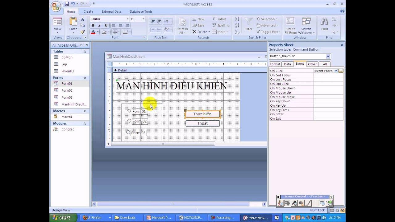 Tin học B - [Bài giảng] Visual Basic Access (VBA)