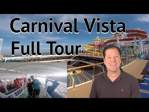 Carnival Vista Review- Fully Guided Walkthrough Tour - Carnival Cruise Lines