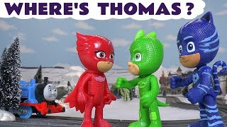Thomas The Tank Engine is missing - PJ Masks search for him - Fun holidays toy story for kids TT4U