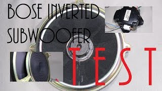BOSE inverted subwoofer with stock amplifier ( Excursion & Bass TEST )