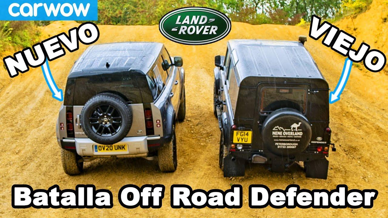 Nuevo vs Viejo Land Rover Defender: ARRANCONES cuesta arriba y ¡Batalla Todoterreno!