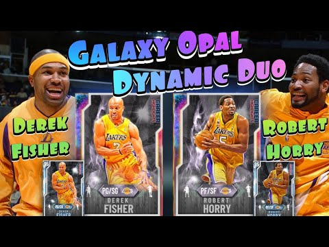 DEREK FISHER AND ROBERT HORRY DYNAMIC DUO GAMEPLAY + UPGRADES | NBA 2k20 MyTeam