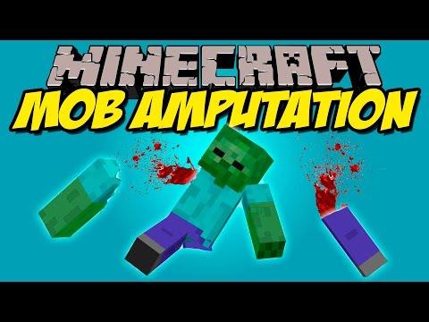 MOB AMPUTATION MOD - Corta las extremidades de los mobs! - Minecraft mod 1.7.10 y 1.8 Review
