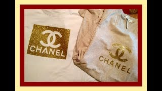 Silhouette curio cutting and heat press, chanel t-shirt