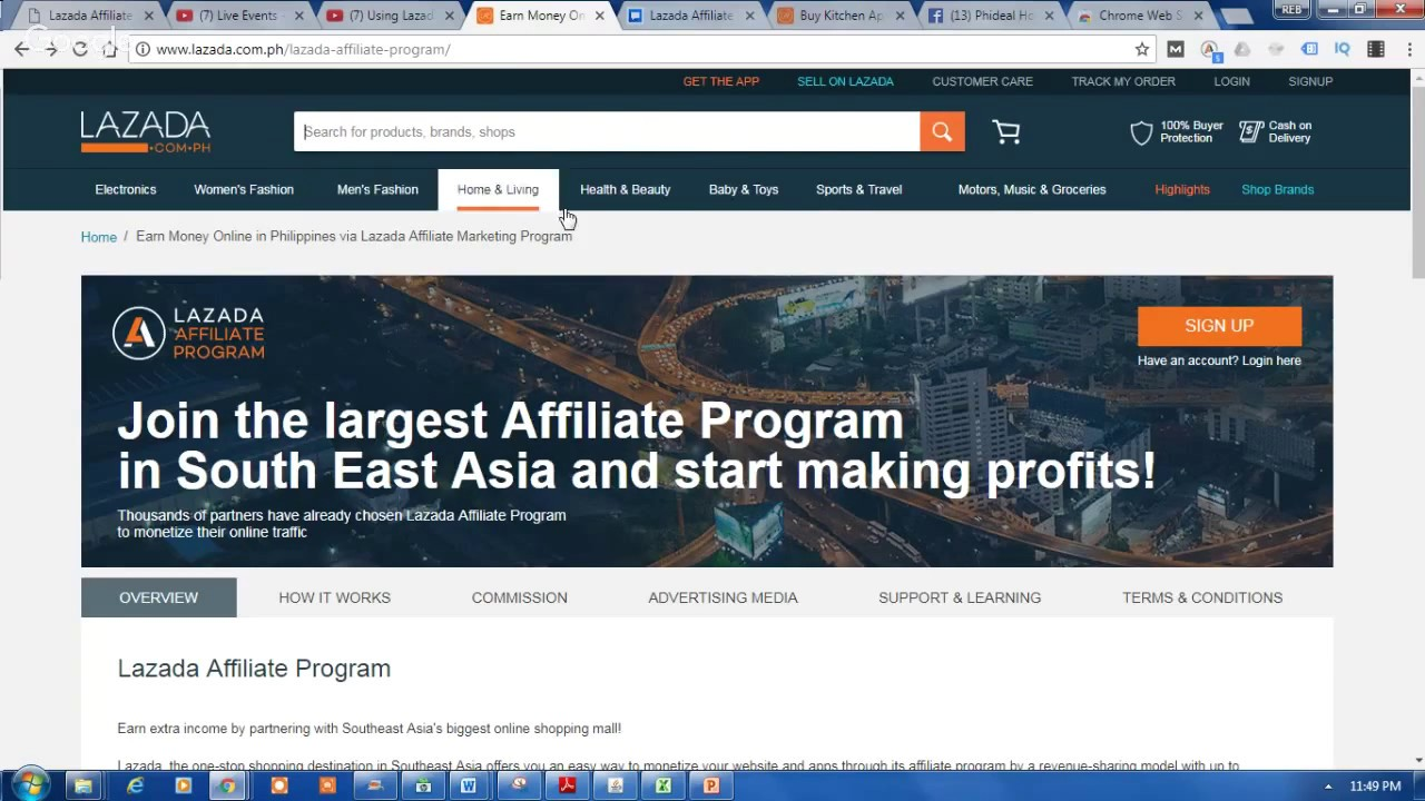 Lazada Affiliate Marketing Registration Tutorial - How to