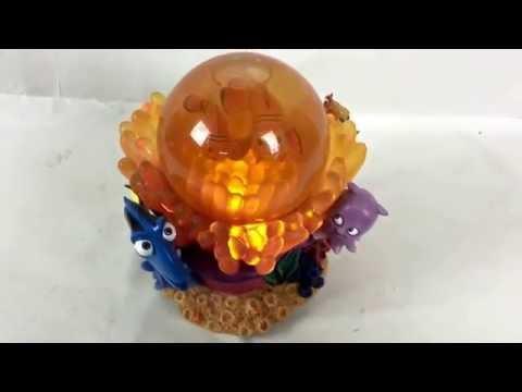 Disney's Finding Nemo Snow Globe Rare Toy Musical Working Light Disneyana Pixar