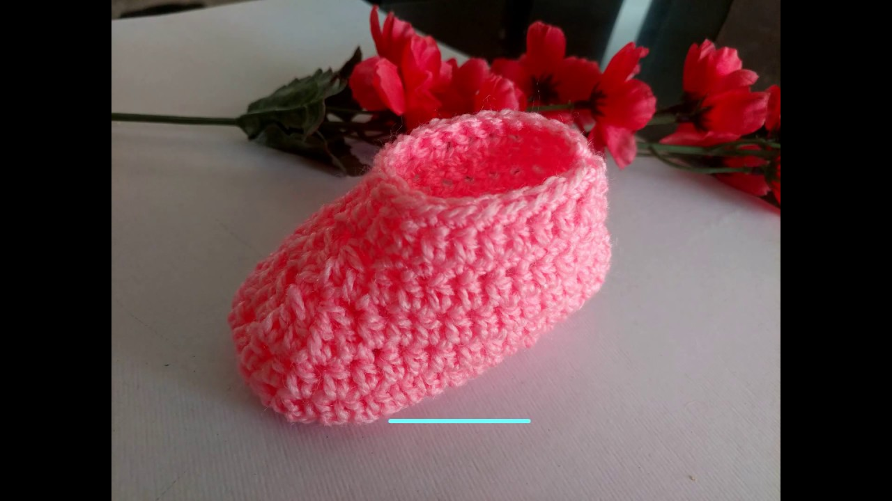 997c4a70653f How to Make Crochet Baby Booties (0 to 3 Months) - For Beginners ...