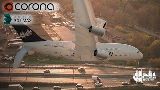Разбор сцены полет самолета и интеграция в видео