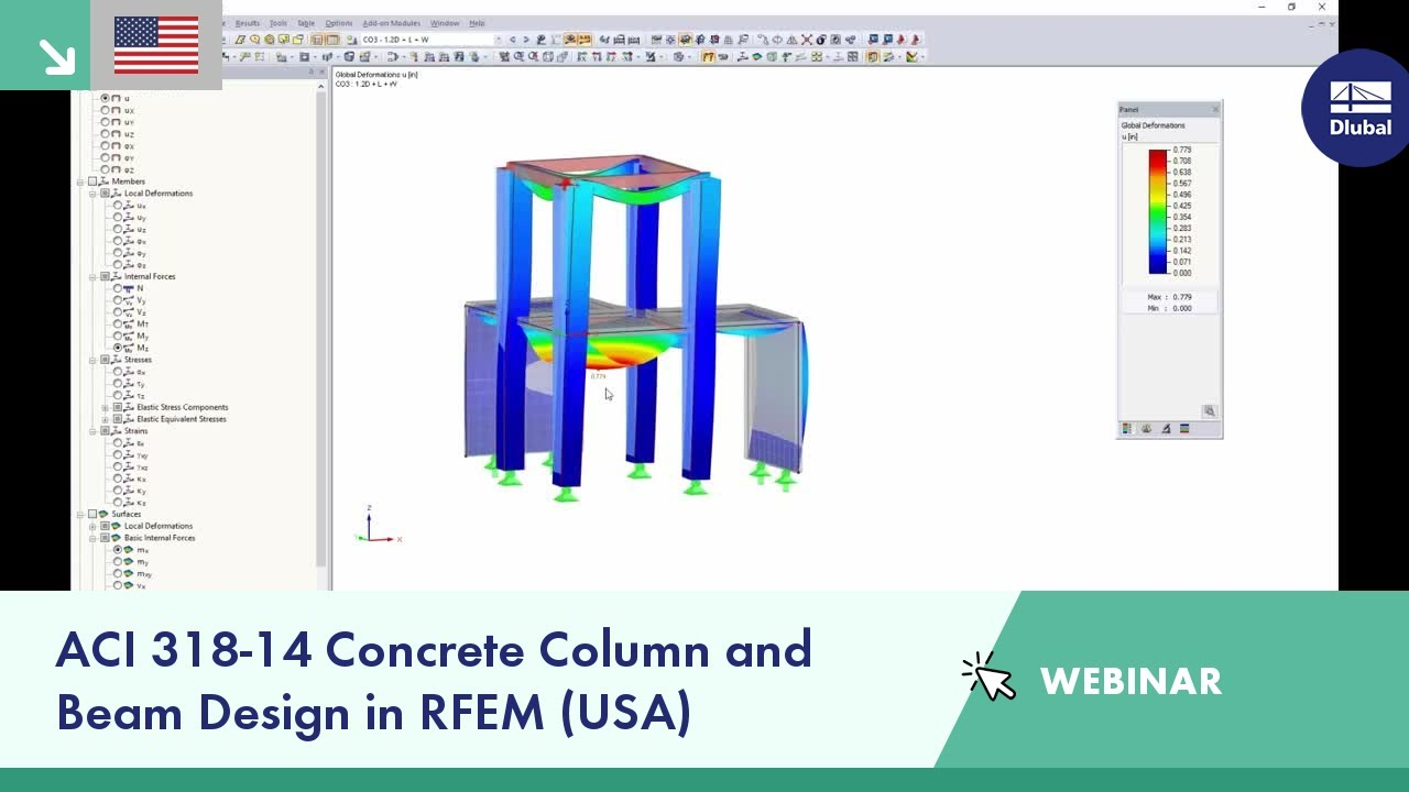 Dlubal Webinar Aci 318 14 Concrete Column And Beam Design In Rfem Usa Youtube