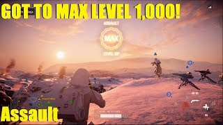 Star Wars Battlefront 2 - Got Assault class to level 1,000! (MAX LEVEL) | It's been a LONG grind! XD