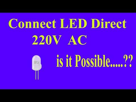 Connect LED Light To 230V AC    LED