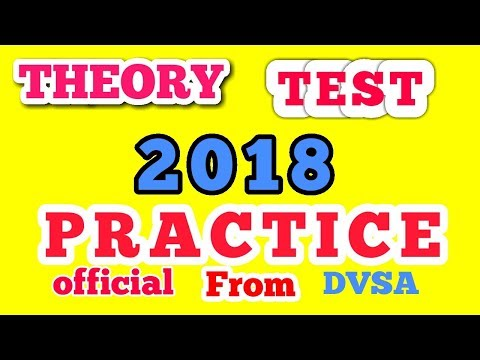 DRIVING THEORY TEST 2018 PRACTICE    THEORY TEST 2018 OFFICIAL DVSA QUESTIONS