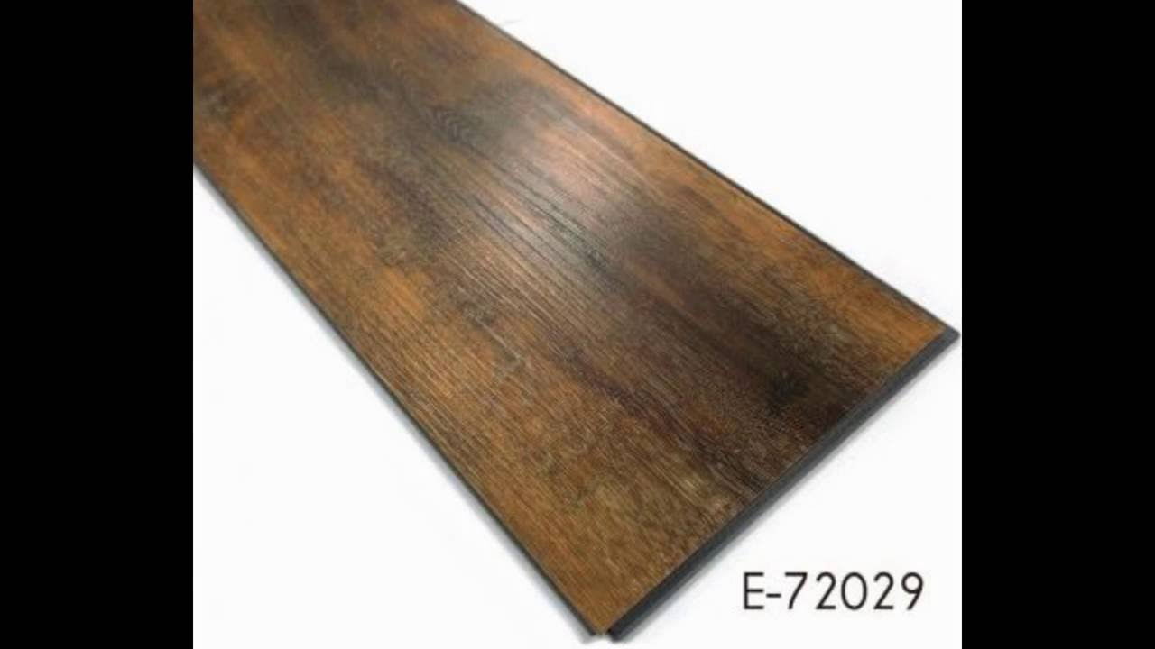 Wood Effect Luxury Vinyl Click Plank Flooring For Home Company   YouTube