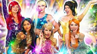 POP STAR PRINCESSES. (Ariel, Elsa, Belle, Jasmine, Anna and Aurora) Totally TV Parody