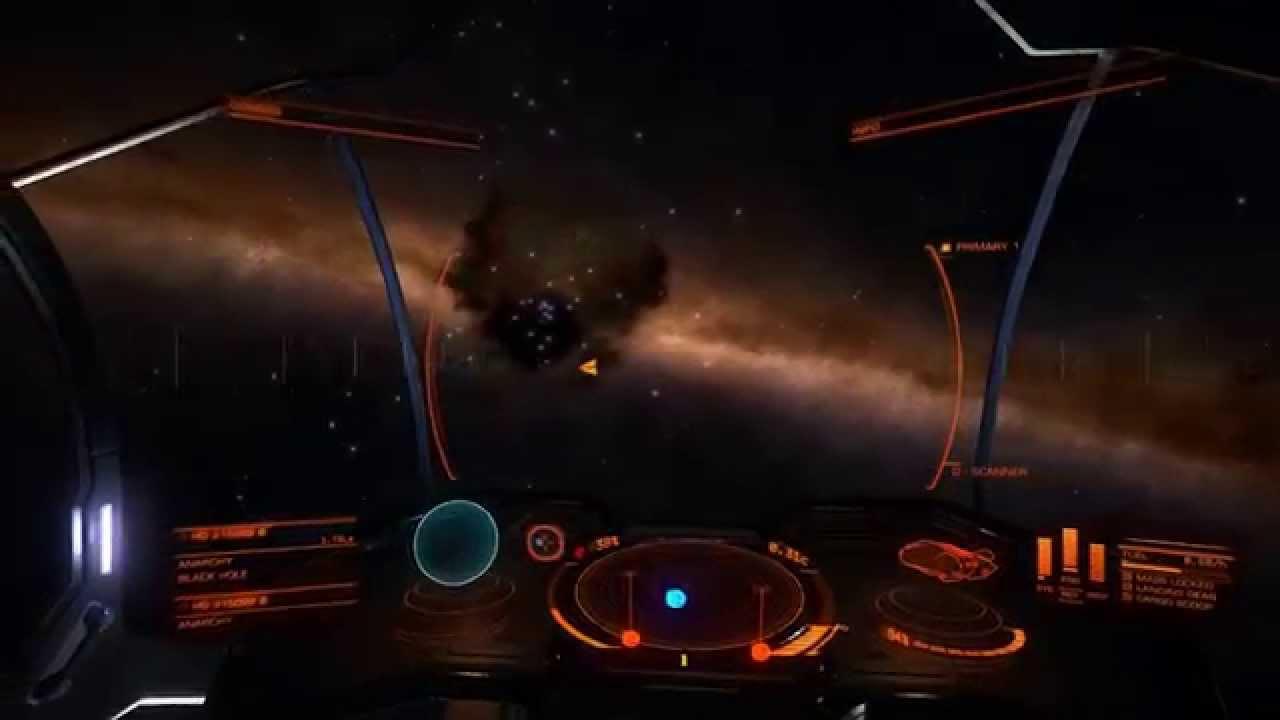 Elite Dangerous - Black Hole near Lagoon Nebula - YouTube