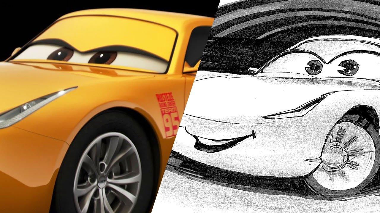 How To Draw Cruz Ramirez From Cars 3 Pixar Live Youtube