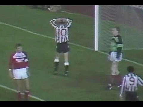 Newcastle Utd v Middlesbrough 1988-89 MIRANDINHA GOAL