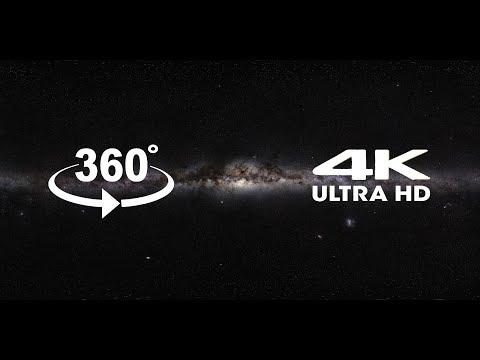 Панорама млечного пути с планеты Земля [4K] - Virtual Reality 360º