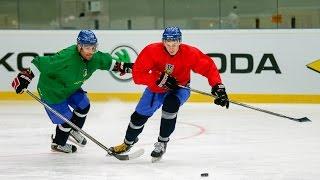 ЧМ-2017 по хоккею. Сборная Украины опробовала лед в киевском Дворце спорта