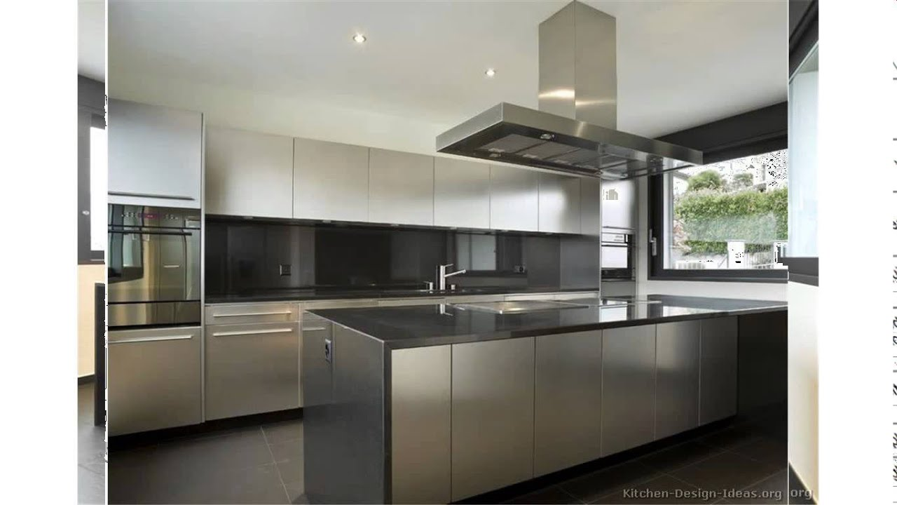 Stainless Steel Kitchen Furniture Stainless Steel Kitchen Cabinets Youtube