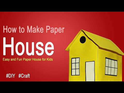 How to make a paper House for kids DIY