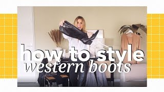 How to style western boots | Nelson X Moderosa