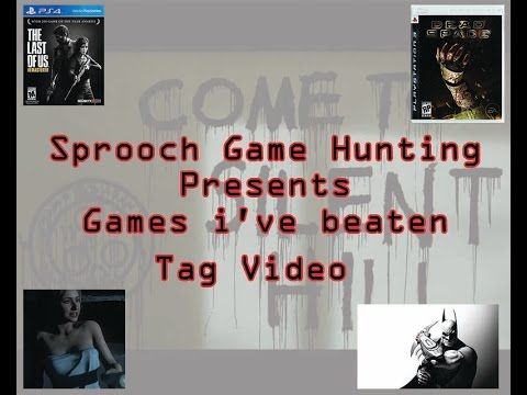 Tag Response Video What Games Have I beaten? Watch and find out