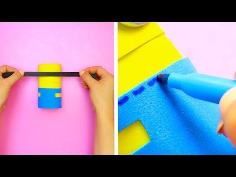 6 DIY MINION AND EMOJI CRAFT IDEAS    AMAZING AND EASY MINION AND EMOJI CRAFTS AND DIYS