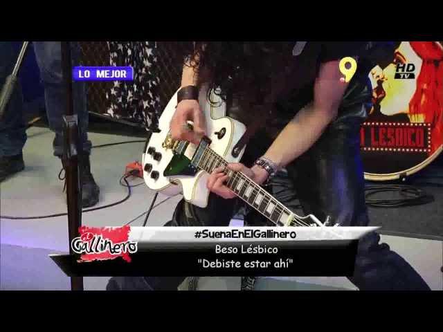 """Beso Lesbico - Debiste estar ahí (En Vivo en biobio tv Canal 9 """"El Gallinero"""")"""