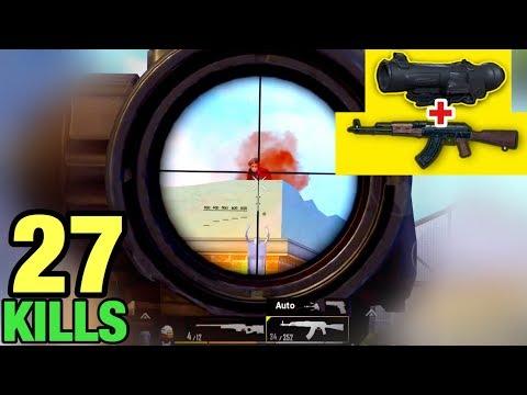 BEST CONTROL AKM + 6x Scope NO RECOIL | HANDCAM 27 KILLS SOLO VS SQUAD | PUBG MOBILE