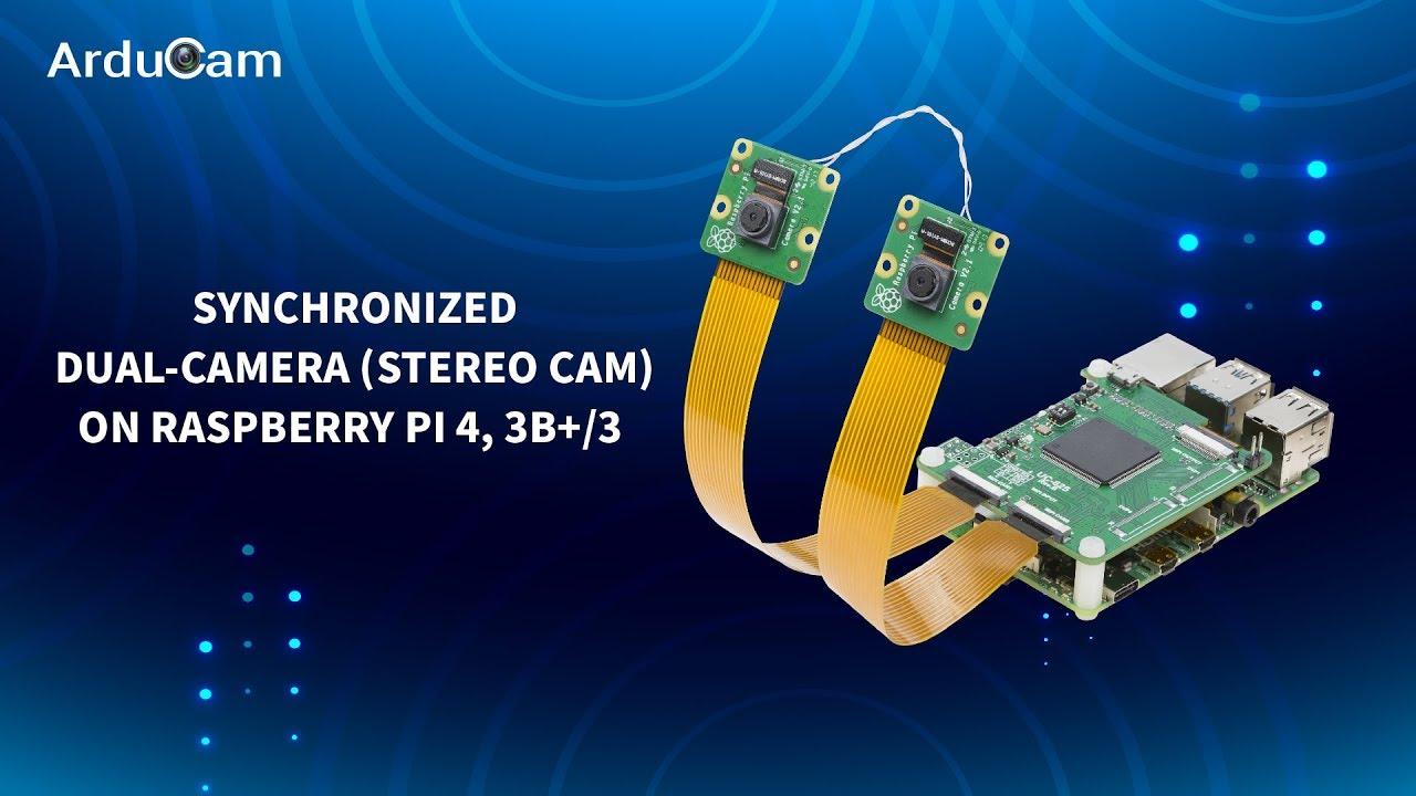 Synchronized Dual Camera for Raspberry Pi 4, Stereo Camera