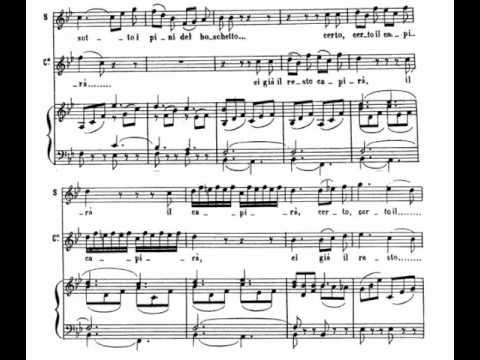 Sull' aria (Le Nozze di Figaro - W. A. Mozart) Score Animation