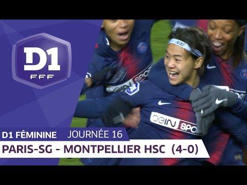 J16 : Paris Saint Germain - Montpellier HSC (4-0) / D1 Féminine