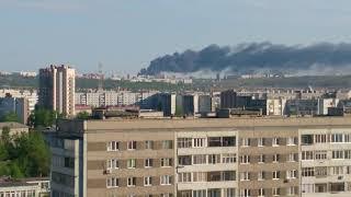 Пожар в солнечном 30.05.2018 Красноярск.