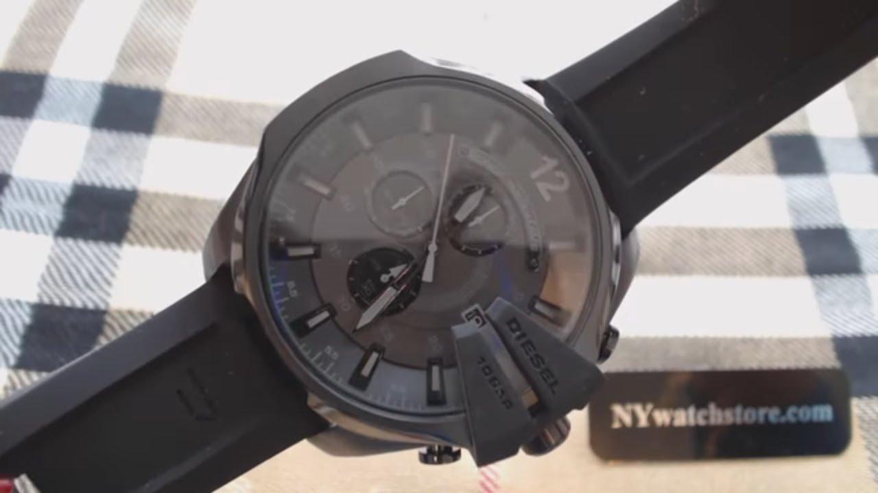 f5aa905fa6f Diesel Mega Chief Oversized Chronograph Watch DZ4378 - YouTube