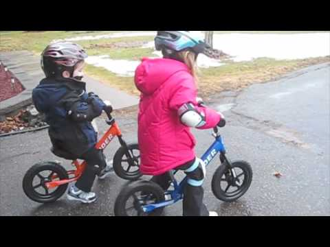 3e509b0ea47 Kids on their Strider balance bikes - YouTube