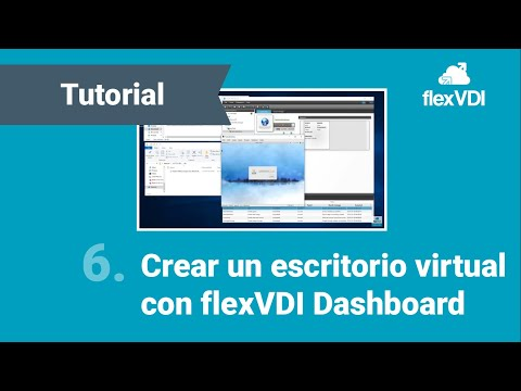 Step 6: flexVDI 3 0 Dashboard: Create virtual desktop - YouTube