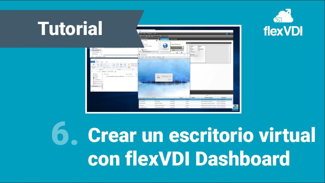 Step 6: flexVDI 3 0 Dashboard: Create virtual desktop
