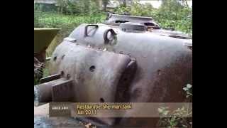 Restauratie Sherman tank
