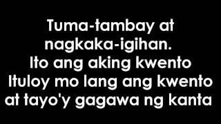 Tambay Lyrics on Screen
