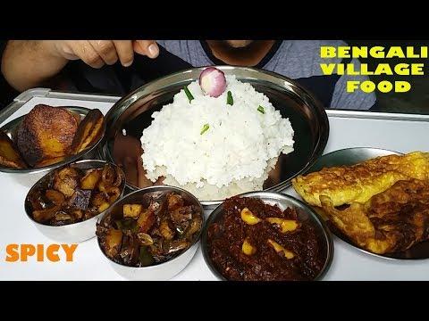 Spicy Bengali Village Food Mukbang Eating Show