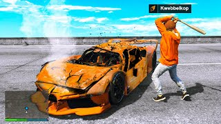 DESTROYING $1,000,000,000 Cars In GTA 5 RP!