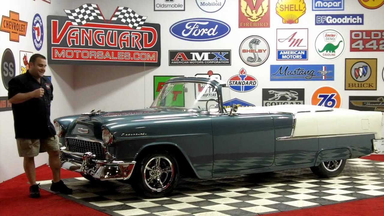 1955 chevy custom drop top 4 door roadster classic muscle car for sale in mi vanguard motor. Black Bedroom Furniture Sets. Home Design Ideas